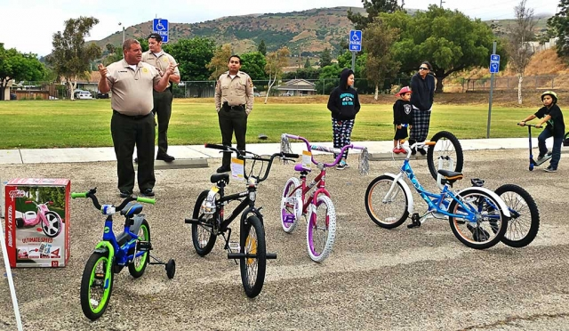 At this year's Bike/Skateboard Safety Rodeo the Fillmore Sheriff and Fire Departments were able to raffle off bikes to the kids who participated in the safety course. Photos by Sebastian Ramirez