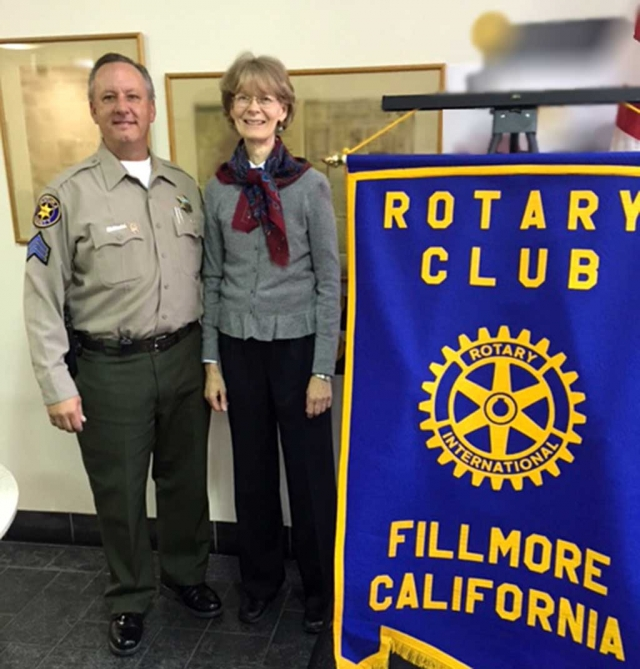 Safe Harbor. The Rotary program last week was presented by Susan Becker from the District Attorney's office. She informed the Club about Safe Harbor, the victim-friendly place where public and private support services are brought together to help victim's and their families. Pictured are Brian Richmond and Susan Becker.