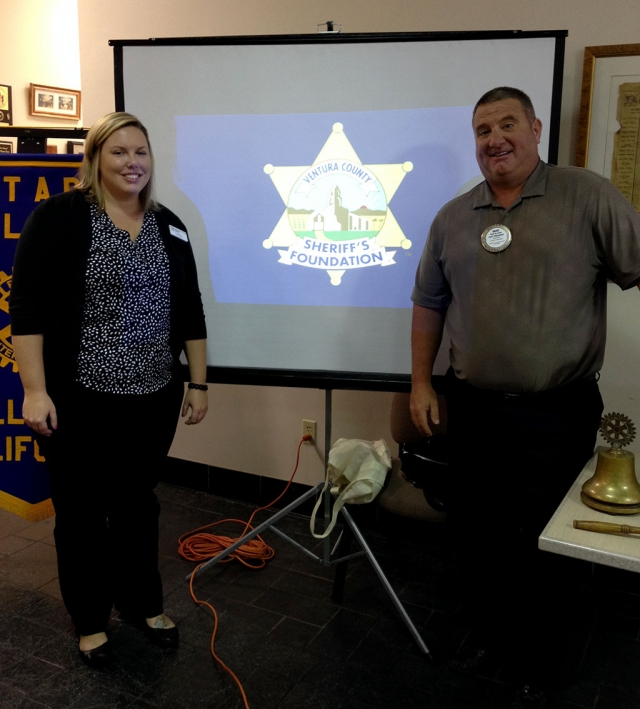Sharon Pierik, President of the Sheriff Foundation and Fillmore Police Chief Dave Wareham.