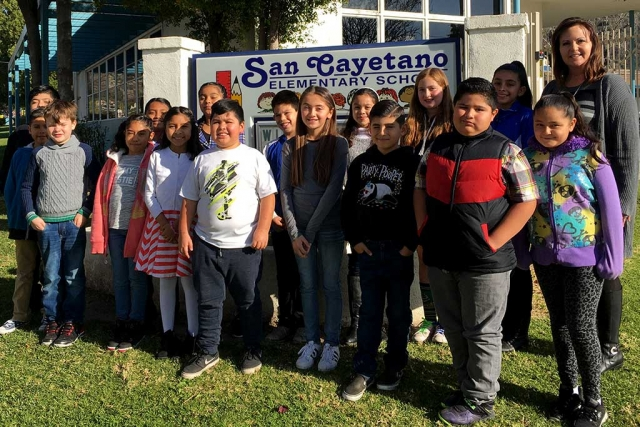 Pictured is the group of San Cayetano 3rd, 4th and 5th grade students who competed at the site level.