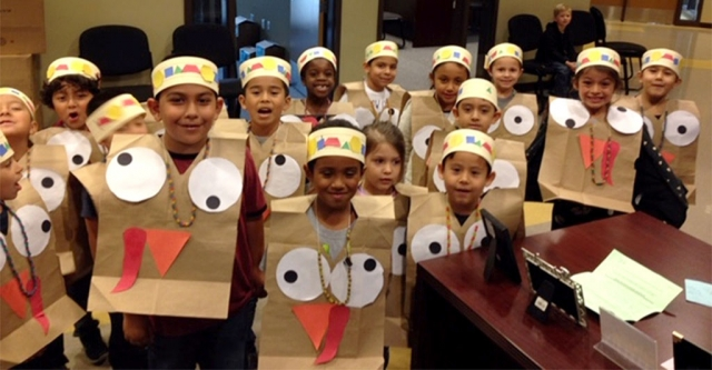 Last week before the Thanksgiving break a flock of Turkeys from Rio Vistas kindergarten class escaped and invaded the front office.