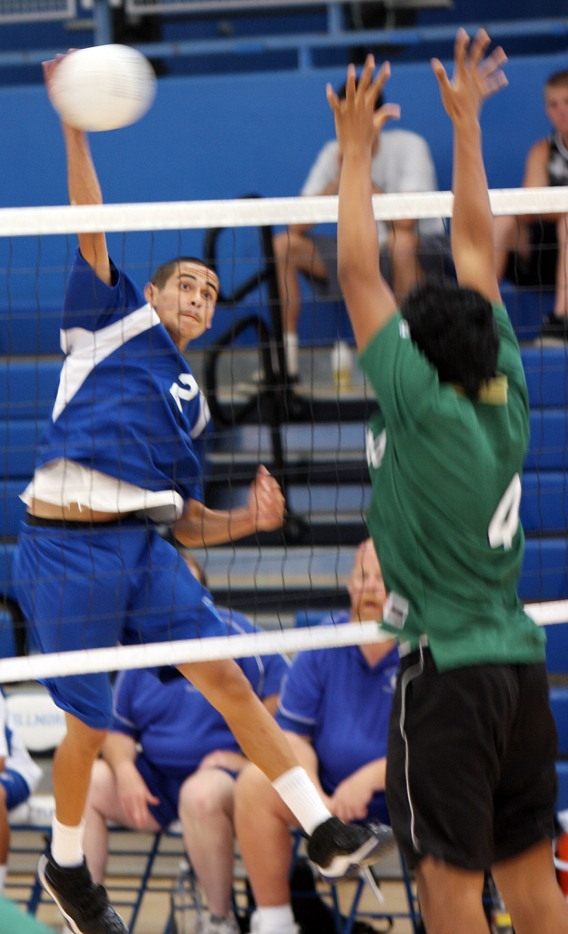 Gera Avalos slams the ball against Glendale. Avalos had 4 kills and 4 aces in the game.