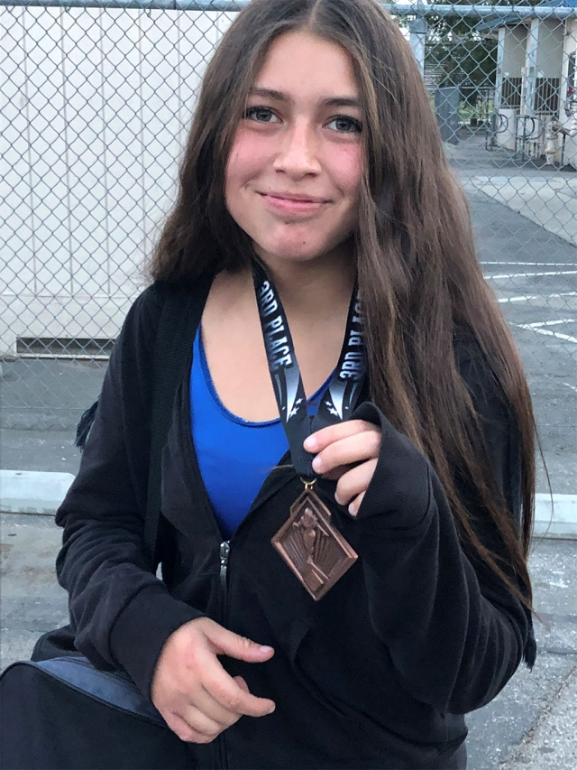 Fillmore Flashes wrestling kicked off the first tournament of the season this past weekend. Pictured right is Veronica Arroyo who went 3-1 and took 3rd Place in her weight class. Fellow Flashes Jessica Velasquez and Carmen Orozco went 0-2, and wrestled well. The boys Varsity team will be wrestling this coming weekend at Orange Lutheran High School on Saturday, November 24th at 9am. Submitted by Coach Manuel Ponce.