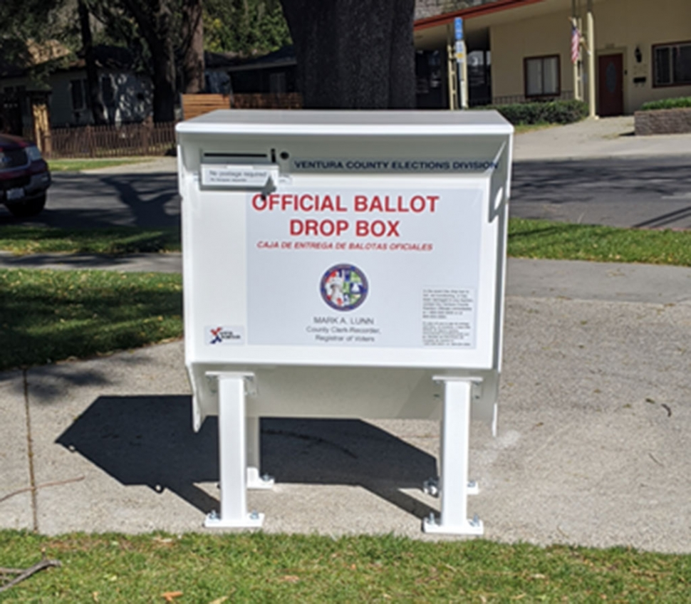 With election day around the corner, the County of Ventura Elections Office has a list available of the approved ballotdrop locations. For the City of Fillmore, the ballot box is located outside the Fillmore Library. Please report any possible unauthorized ballot boxes or issues to Erika Herrera, Deputy City Clerk at eherrera@fillmoreca.gov, or by phone to 805-946-1712. Courtesy City of Fillmore website.