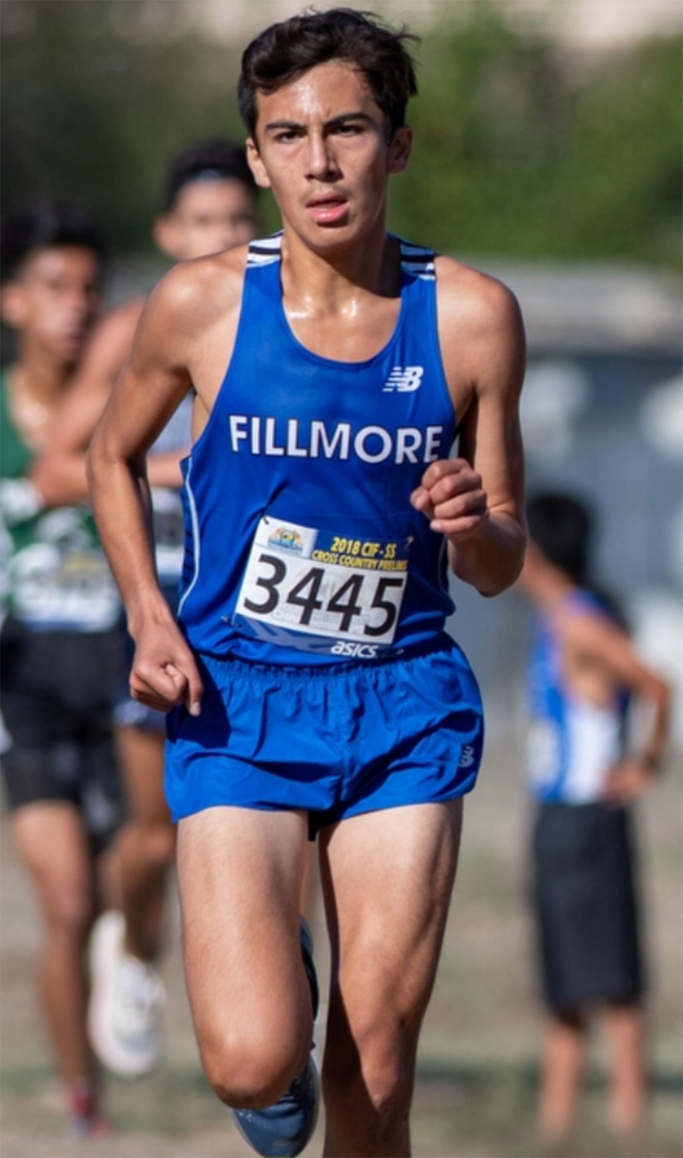 Sophomore Fabian Del Villar finished 9th with a personal best time of 15:49.6 and leads the Flashes at the Division IV CIF