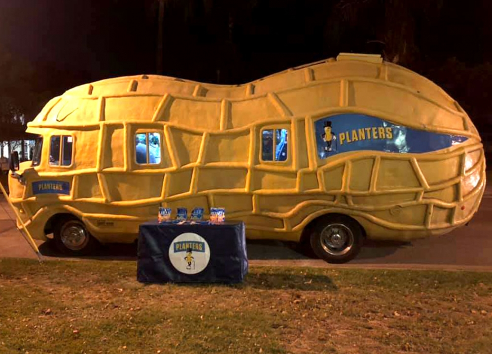 On Friday, December 4th the Planters Peanut mobile stopped by and set up outside Fillmore's drive-in movie night behind