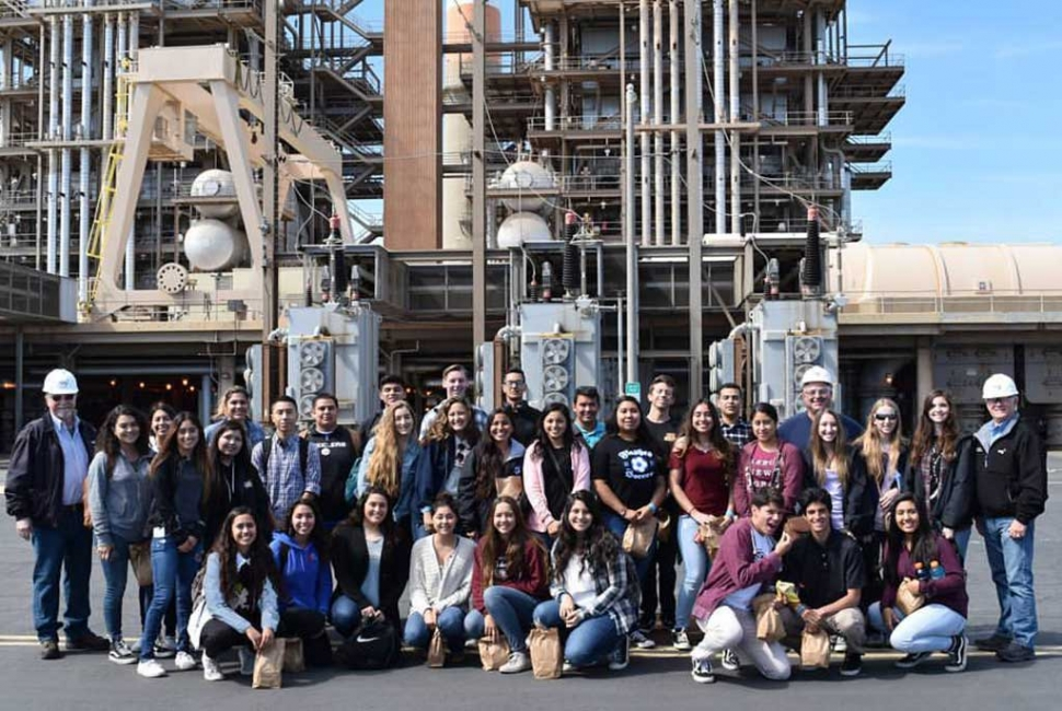 Fillmore High School AP Environmental Science class took a group photo to celebrate their amazing field trip to NRG's Mandalay Generating Station, not only did students get a tour of the plant they also had lunch at the beach and did a beach clean up afterwards.